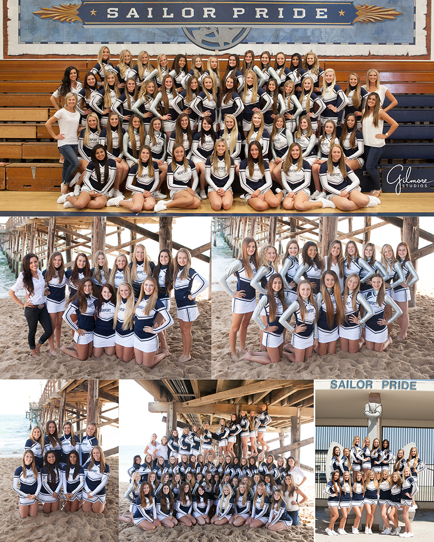 newport harbor high school cheer team photography